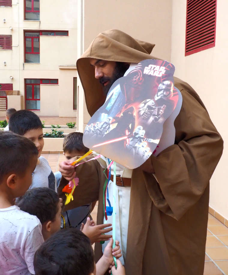 Momento piñata Star Wars