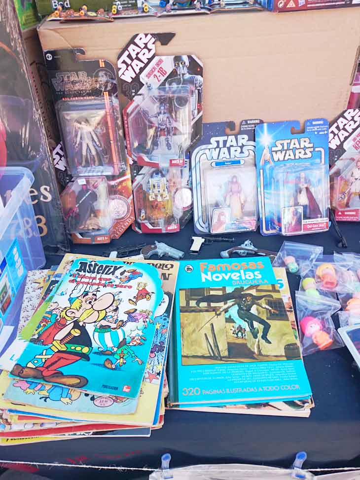 Juguetes Star Wars y comics