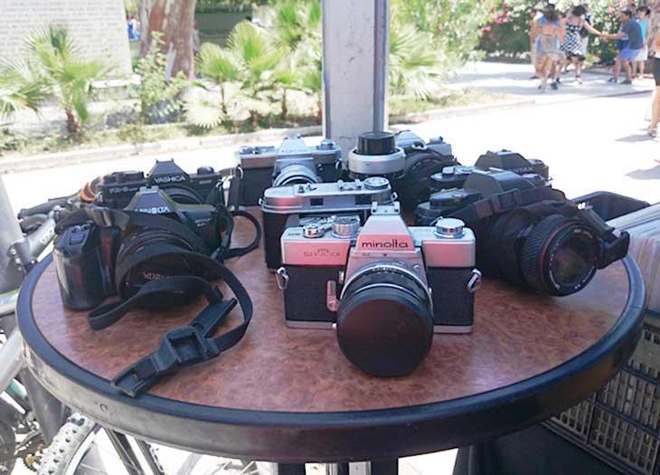 Mesa cámaras réflex