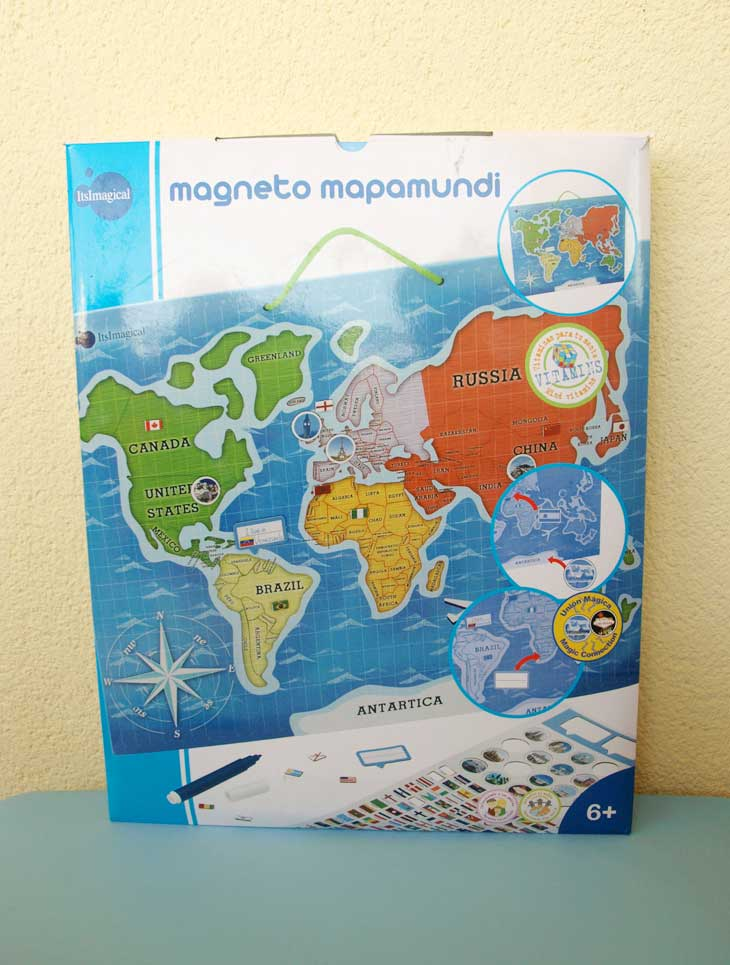 Mapamundi magnético