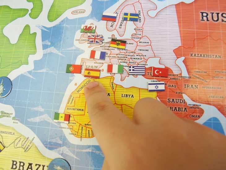 Señalando nuestro país: España
