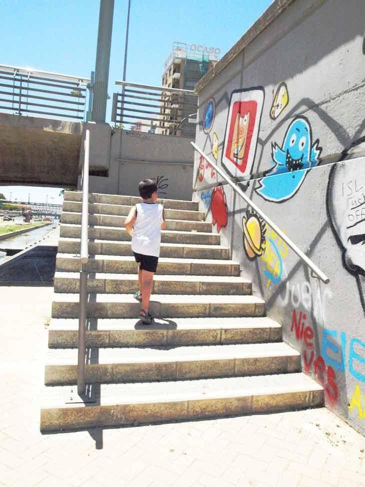 Subiendo las escaleras