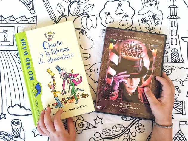 LIBRO Y PELICULA DE CHARLIE Y LA FABRICA DE CHOCOLATE
